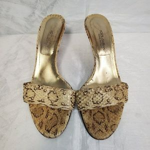 Authentic Dolce And Gabbana Snakeskin Studded Heel